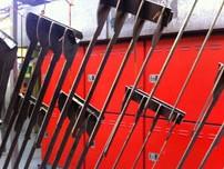 Laser cut prongs for EPC powder coating