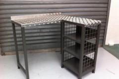 Fabricated metal desk