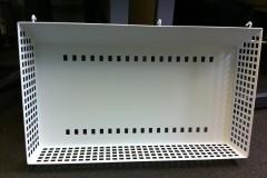 Metal basket, EPC painted white