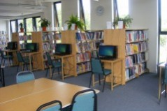 Library Desks and Shelves