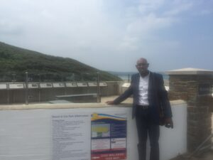 Mike of Dymond Engineering at the Woolacombe & Mortehoe unveiling
