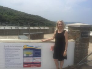 Sue of Dymond Engineering at the Woolacombe & Mortehoe unveiling