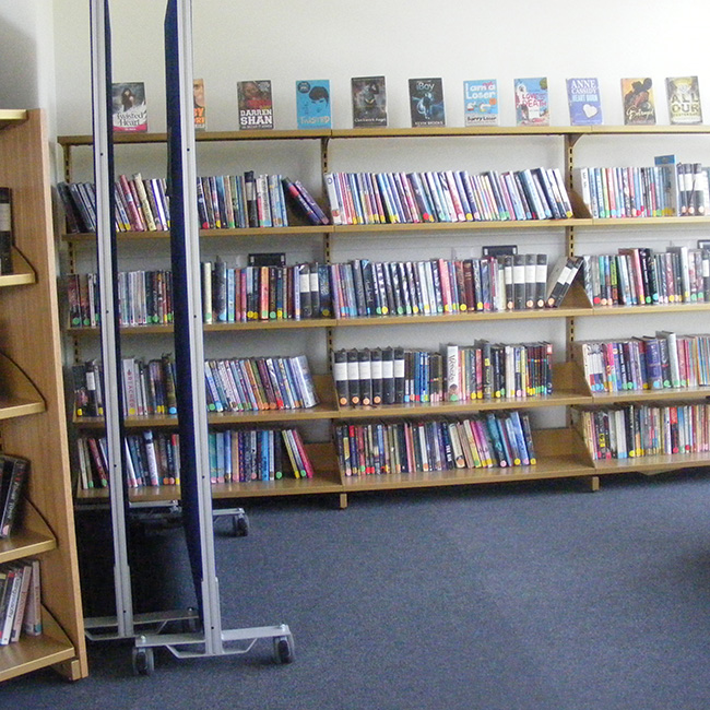 College Library Shelves - Braunton Academy