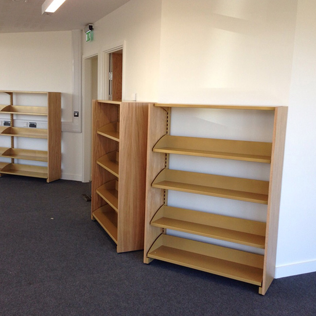 College Library Shelves - Braunton Academy Case Study