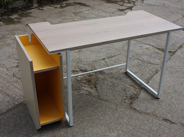 Bespoke Metal Desk Frame with CPU storage