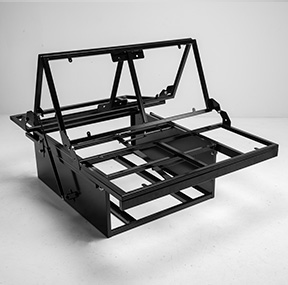 Campervan Rock and Roll Bed Frame in transition