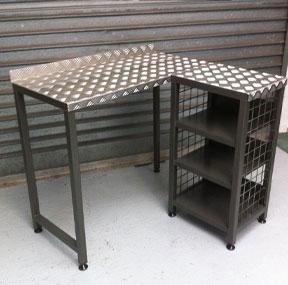 Rugged heavy duty metal desk
