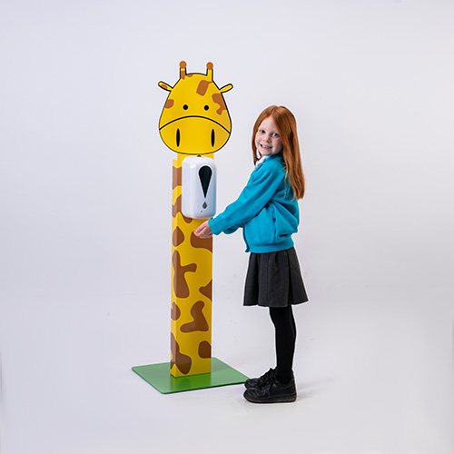 Hand sanitiser dispenser stand for children